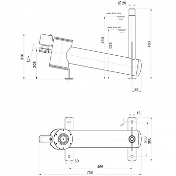 Air Nozzle horizontal 20 E/01